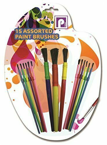 15 Assorted Kids Children Paint Brushes Arts /& Craft Creative Education Fun