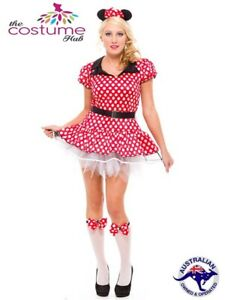 DELUXE-Minnie-Mouse-Disney-Fancy-Dress-Halloween-Costume-Size-8-16-AU