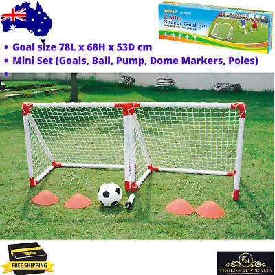 Soccer Goal Set Mini football Goals Ball Pump Markers ...