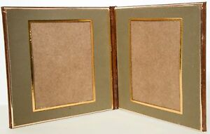Folio ~ Art Leather ~ To Fit Two 4X5 Prints ~ Vertical ~ Vertical ~ NEW