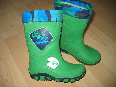 Gummistiefel Gr.24 * Jungen * grün-blau