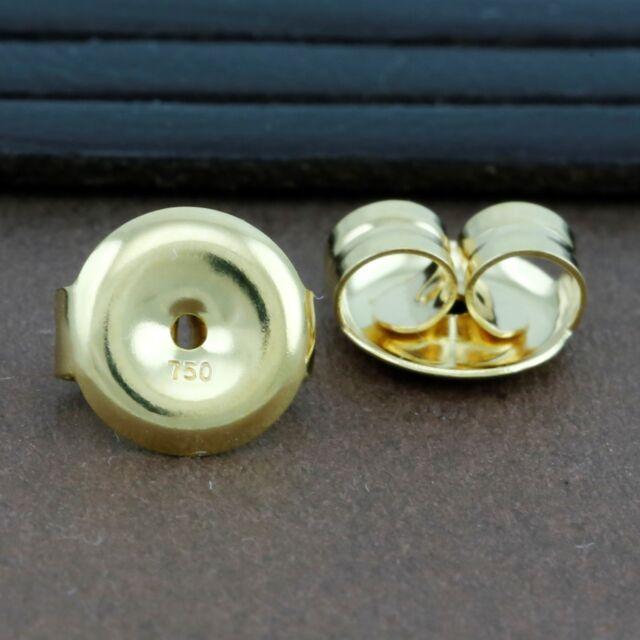 Genuine 4mm 18ct Gold heavy BEADS Jewellery Findings ~ necklace Earrings