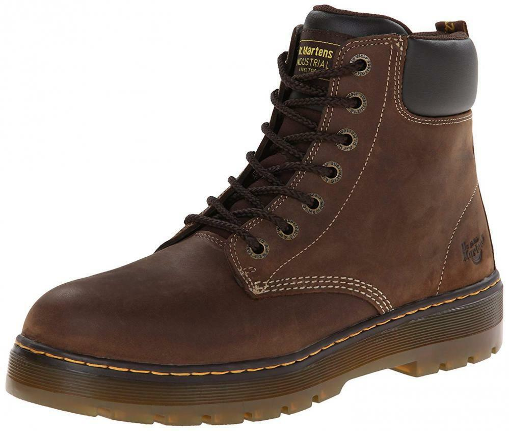 Dr. Martens Men's Winch 7-Eye Cushion Safety Toe Boot