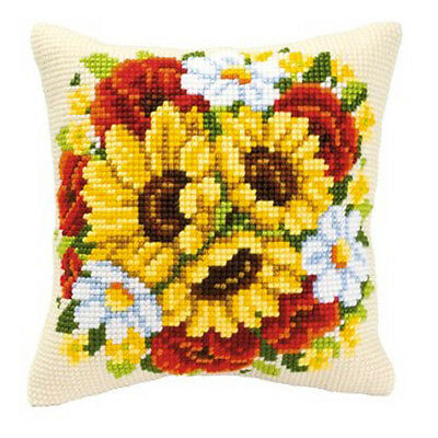 Vervaco 1200//222 Cross Stitch Cushion Front Kit Poppies