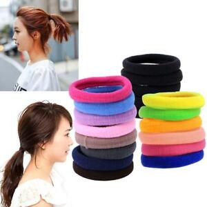100 Mixed Color Strong Elastic Hair Band Rope Ponytail Hair Ties ... 3d2ea0c3fa4
