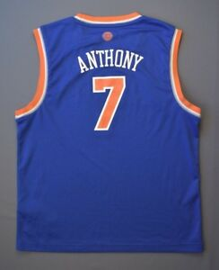 Men's Adidas New York Knicks #7 Carmelo Anthony Swingman