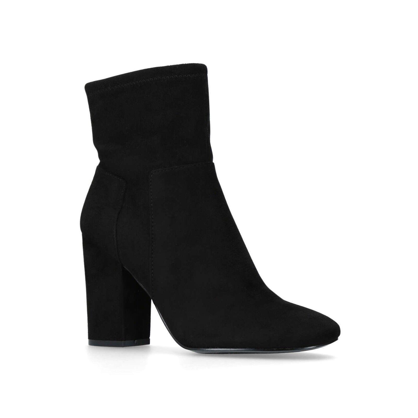 Nine West Corban para mujer nos 10 Negro Imitación Gamuza Tacón De Bloque De Alto Botas al tobillo