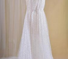 Vintage 140cm Breit Perlen Braut Tüll Spitze Stoff Elfenbein Hochzeits Kleid 0.5