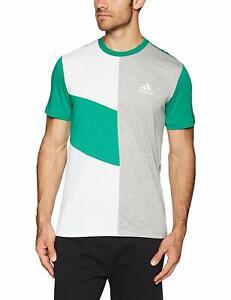 Adidas-Mens-SPORT-ID-COLORBLOCK-T-Shirt-Top-Summer-Sports-S-M-L-XL