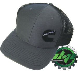 Dodge-Cummins-trucker-hat-ball-richardson-Charcoal-Gray-Black-mesh-snap-back