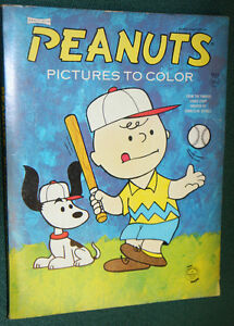image is loading 1966 peanuts coloring book uncolored saalfield vhtf 6 - Peanuts Coloring Book