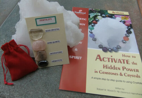 2 GUIDE books plus a Red Velvet pouch. Themed FERTILITY Gemstone pack - inc