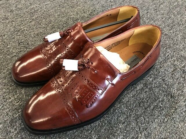 Stacy Adams Cognac Derby 23471-03 Slip on Men's Dress shoes Loafers Final Sale