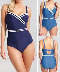 Panache Portofino Swimsuit SW1210 Underwired Swimming Costume Denim//Ivory
