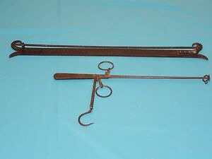 ANTIQUE-BALANCE-BEAM-SCALE-by-H-SMITH-MIDDLETOWN-w-WALL-BRACKET