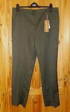 M&S olive green khaki stretch elasticated waist classic trousers BNWT 18 Med 46