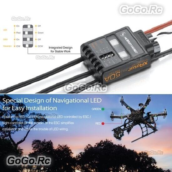 2 Pcs Pcs Pcs Hobbywing Xrossoor Pro Series 50A ESC Brushless Speed Controller Multirossoor 66ef1c