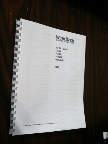 German Wurlitzer 1980  Manual