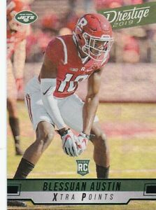 Blessuan-Austin-2019-Prestige-Football-Rookie-XTRA-Points-Green