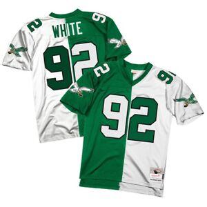 the latest e1eb6 80bbf Details about Reggie White 1990 Philadelphia Eagles Mitchell & Ness NFL Men  Split Jersey