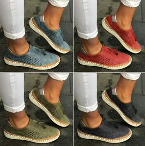 Women-Tassel-Slip-On-Loafers-Summer-Flat-Breathable-Canvas-Casual-Shoes-Sneakers