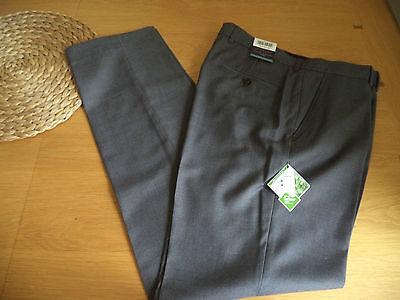 Mens Smart Grey Trousers Teflon Coated 30 32 34 Waist BNWT FREEPOST
