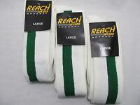 Reach Sports Socks 3 Pairs Green Youth/adult Baseball Softball Med Size 5-9