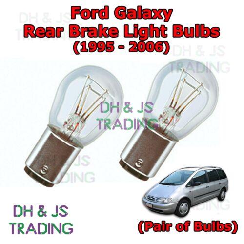 95-06 Ford Galaxy Rear Brake Light Bulbs Pair of Stop Tail Light Bulb