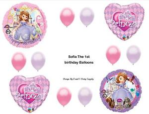 Sofia The First 1st Princess Happy Birthday Party Balloons