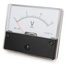 Messinstrument 0 - 15 V DC zum Einbau, Einbaumessinstrument, Analog Voltmeter