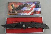 Smith & Wesson Knife Sw Ck35t Cuttin Horse 5 24-7 Sure Grip W Eagle Tin Limited