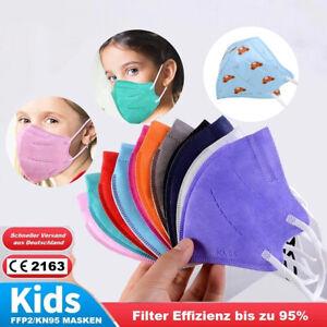 Kinder Kids FFP2 KN95 Atemschutz Maske farbige Medizinisch Mund Nasenschutz bunt