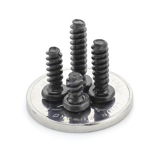 Tête cylindrique plate queue autotaraudeuses tôle vis PB noir-Zinc M1.4 2,3 mm 1,7 2