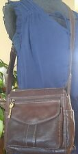 FOSSIL 1954 Cargo Organizer Crossbody Bag Shoulder Bag Purse ZB8056 Brown in EUC