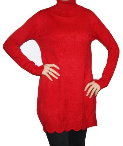 Femmes Col Roulé Robe Tricot minkleid hiver manches longues de nombreuses couleurs