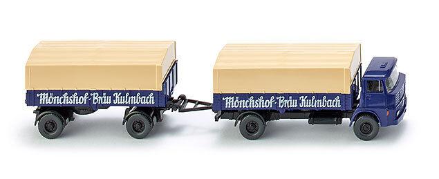 Wiking 041701 Flatbed Trailer (Henschel)   mönchhof-bräu mönchhof-bräu mönchhof-bräu Kulmbach   1 87 (H0) 8624ee