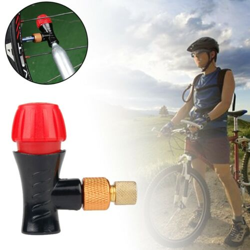 Bicycle Inflator Head Compatible For Presta Schrader Valve CO2 Pump Part