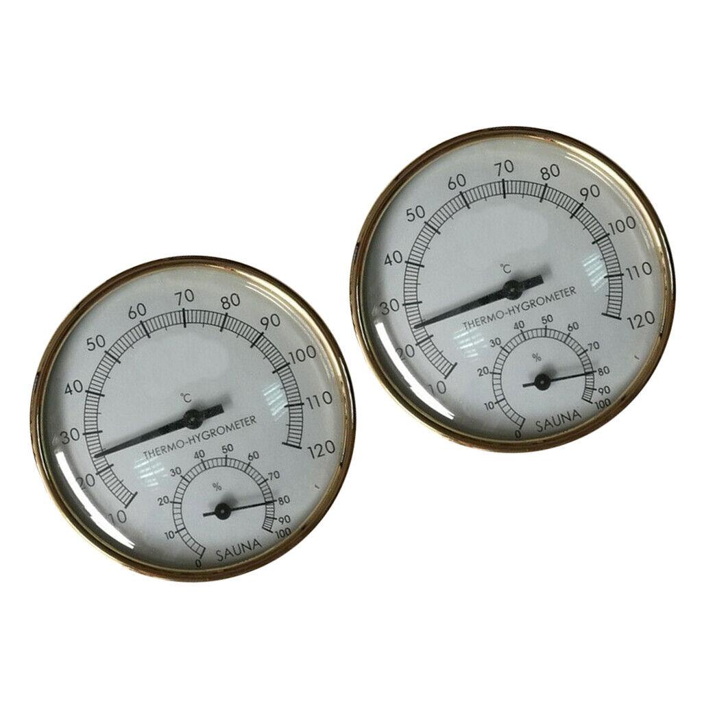 10-120 ℃ Diameter Sauna Thermometer & Hygrometer Hygrothermograph 4