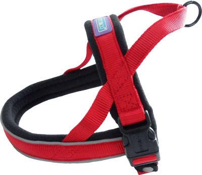 2019 Nieuwste Ontwerp Dog & Co Nylon Norwegian Harness Reflective Padded Red Small Tekorten