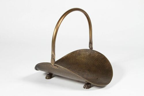 Antique Bronze Buckley Log Panier ou Log Holder