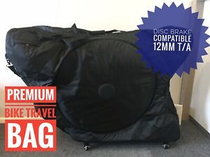 New Bike travel bag Sci Con style bike transport Quick release /& Thru axle disc