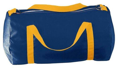 NEUF Augusta Sportswear Medium Canvas Duffle Bag Bleu Marine//Or