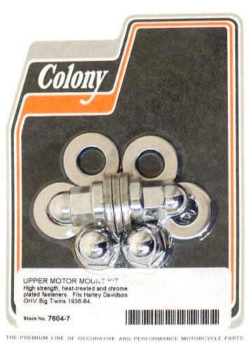 Harley 36-84 BT Upper Motor Mnt Hrdwr Kit Colony 7604-7