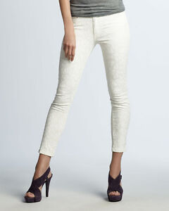 a30a8399926b Joe's Jeans Ivory White Cropped Skinny Jeans | Animal Print 24 26 ...
