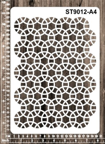 A6 ST9012 Patterns A4 Masks for Scrapooking A5 Cardmaking Stencils
