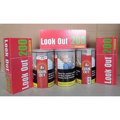 3 x  Zigarettentabak  Volumentabak LOOK OUT Red XL a 100 g & 3 x 200 Hülsen