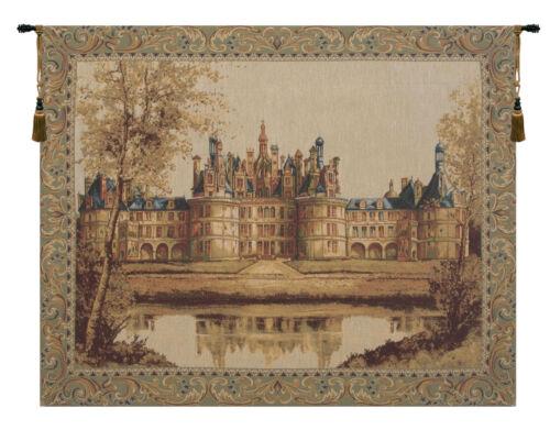 B-H 27 x L 33 Chambord Château je européenne tapisserie beige crème