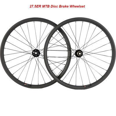 27.5ER Mountain Bike Wheelset//Rim 40mm Width Tubeless MTB Full Carbon Wheelset