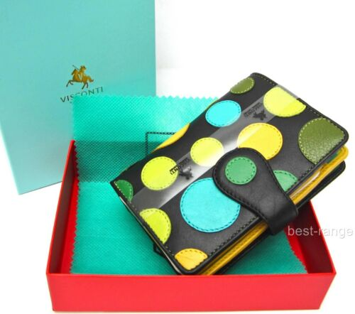 Ladies Purse Soft Leather Wallet Artisan Designer Visconti New in Gift Box P1