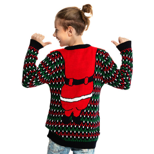 Kids Children Boys Girls Xmas Christmas Winter Jumper Sweater Knitted Retro 2019